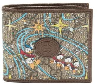 Gucci X Disney Gg Supreme And Leather Bi-fold Wallet - Beige Multi