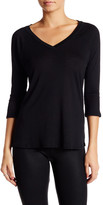 David Lerner Addison V-Neck 3/4 Length Sleeve Tee
