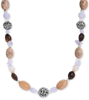 """Carolyn Pollack Multi-Gemstone Statement Necklace in Sterling Silver, 19"""" + 2"""" extender"""