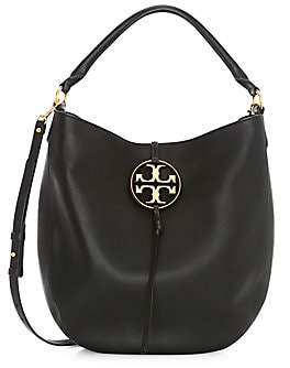 Tory Burch Women's Miller Metal Leather Hobo Bag