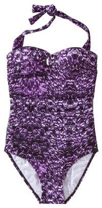 Sara Blakely ASSETS® By A Spanx® Brand Women's 1-Piece Swimsuit -Purple