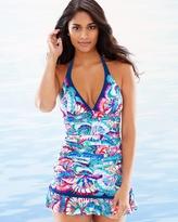 Soma Intimates Madame Butterfly Halter Tankini Swim Top Multi