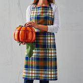Sur La Table Blue Plaid Apron