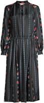Tory Burch Silk Printed Midi Dress