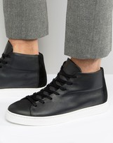 Selected Homme David Hi Top Trainers