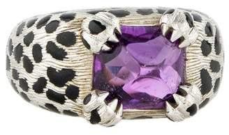 Christian Dior 18K Amethyst Mitza Cocktail Ring