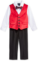 Nautica 4-Pc. Shirt, Velvet Vest, Pants & Bowtie Set, Baby Boys (0-24 months)