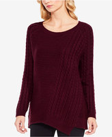 Vince Camuto TWO By Asymmetrical Cable-Knit Sweater