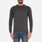 Barbour Pima Cotton Crew Knitted Jumper Charcoal