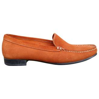 Paraboot Orange Suede Flats