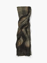 John Varvatos Modal Plaid Scarf