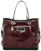 Longchamp Reptile Embossed Leather Small Tote