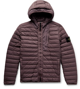 Stone Island Garment-Dyed Quilted Nylon Down Jacket - Men - Purple