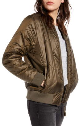 Treasure & Bond Quilted Bomber Jacket