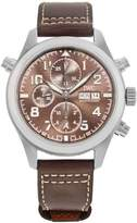 IWC Men's Brown Calfskin Band Automatic Analog Watch Iw371808
