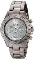A Line Aline 20050-GR – Watch Unisex – Quartz – Chronograph – Speed Meter Grey Stainless Steel Plated Bracelet