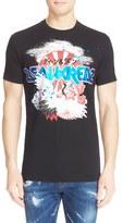 DSQUARED2 Men's 'Crane' Foil Print Graphic T-Shirt