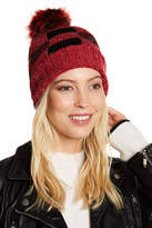 Natasha Accessories Buffalo Plaid Faux Fur Lined Beanie