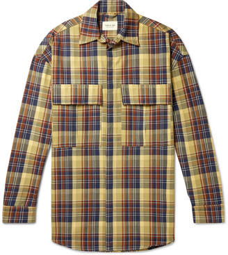 Fear Of God Oversized Checked Cotton-Twill Primaloft Shirt Jacket