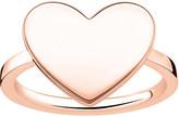 Thomas Sabo Love Bridge engraveable rose gold-plated heart ring