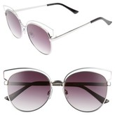 BP Women's 55Mm Round Metal Sunglasses - Silver