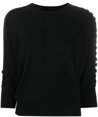 See by Chloe Fitted Embroidered Jumper