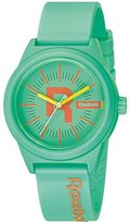 Reebok Classic R Women's Quartz Watch with Turquoise Dial Analogue Display and Blue Silicone Strap RC-CDR-L2-PTPT-TC