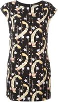 Saint Laurent digital floral print shift dress