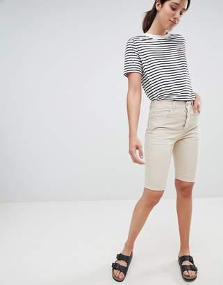 Asos Design DESIGN straight leg basic shorts-Brown