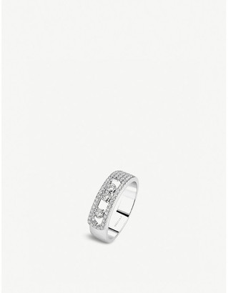 Messika Move Noa 18ct white-gold and pave diamond ring