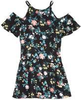 Aqua Girls' Floral Cold-Shoulder Dress, Big Kid - 100% Exclusive