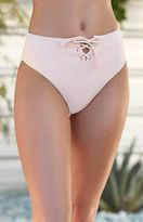 La Hearts Lace-Up High Waisted Bikini Bottom