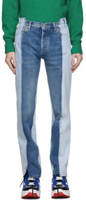 Maison Margiela Blue Spliced Jeans