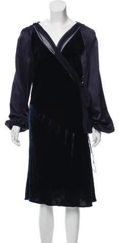 Alberta Ferretti Velvet Midi Dress w/ Tags