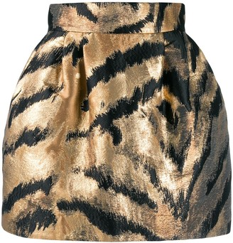 P.A.R.O.S.H. metallic zebra skirt