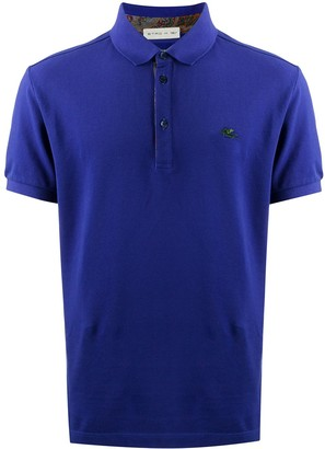 Etro Embroidered Logo Cotton Polo Shirt