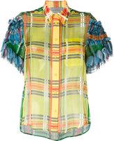 Preen by Thornton Bregazzi checked panel shirt - women - Silk/Polyester/Spandex/Elastane - M
