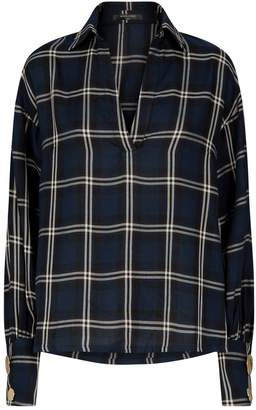 Mother of Pearl Check Long-Sleeved Blouse