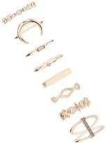 Forever 21 Rhinestone Stackable Ring Set