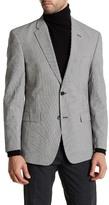 Tommy Hilfiger Black & White Checkered Two Button Notch Lapel Jacket