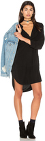 Michael Stars 3/4 Sleeve Split Neck Tunic