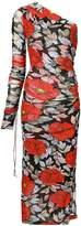 Diane von Furstenberg floral one shoulder dress