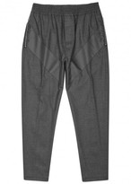 Givenchy Grey Appliquéd Wool Blend Jogging Trousers