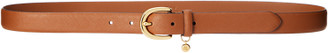 Ralph Lauren Charm Saffiano Leather Belt
