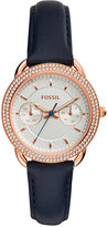 Fossil Women's Tailor Blue Leather Strap Watch 35mm ES4052