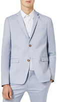 Topman Blue Ultra Skinny Fit Suit Jacket