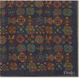 Drakes Silk-blend symmetrical print pocket square