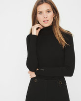 White House Black Market Pointelle-Detail Turtleneck