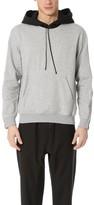 3.1 Phillip Lim Contrast Hood Sweatshirt with Zipper