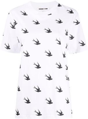 McQ Swallow swallow print T-shirt
